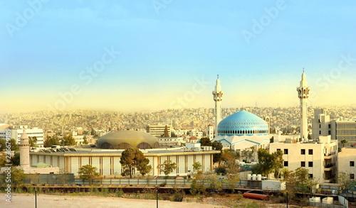 King Abdullah Mosque in Amman Jordan Wallpaper Mural