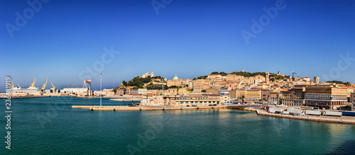 Panoramic view of the port of Ancona in the Marche region, Italy. Wallpaper Mural