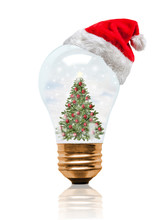 Snow Globe Light Bulb Christma...