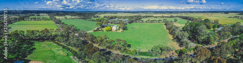 Montage in der Fensternische Khaki Beautiful countryside of Mornington Peninsula on bright sunny day - aerial landscape
