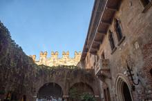 Juliet's House In Verona. Balcony Of Juliet's House In Verona, Italy.