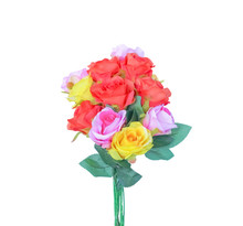 Artificial Rose Flower Group Isolated On White Background With Clipping Path