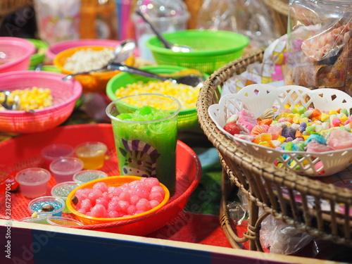 Poster Buffet, Bar Sweets dessert sweetmeat blancmange Delicious
