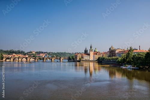 Spoed Foto op Canvas Centraal Europa Prag, Moldau
