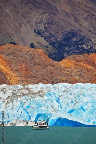 The white-blue glacier