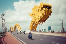 Dragon Bridge ( Cua Rong ), This Modern Bridge Crosses The Han River, Designed And Built In The Shape Of A Dragon. It Is A Symbol Of Da Nang City, Vietnam.
