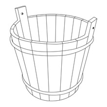 Vector Image Of A Wooden Bucket