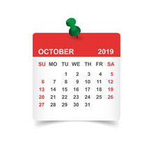 Calendar October 2019 Year In ...