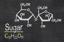 Blackboard With The Chemical Formula Of Sugar