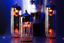 Electronic Vacuum Tubes Close-...