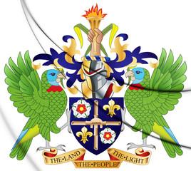 3D Saint Lucia Coat of Arms.