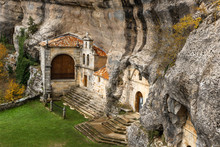 San Bernabe Church In Ojo Guarena Natural Monument, Burgos, Spain