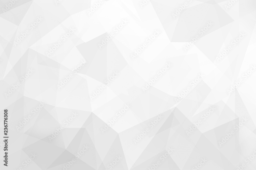Fototapeta Abstract Gray background low poly textured triangle shapes design.