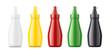 Plastic bottles mockups for sauces
