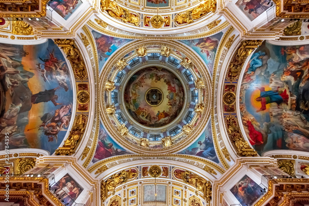 Fototapety, obrazy: St. Isaac's Cathedral interiors, Saint Petersburg, Russia