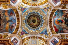 St. Isaac's Cathedral Interiors, Saint Petersburg, Russia