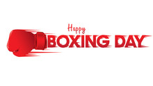 Boxing Day Vector Illustration.Typography Combined In A Shape Of Boxing Gloves