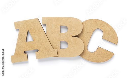 Photo wooden letters isolated at white
