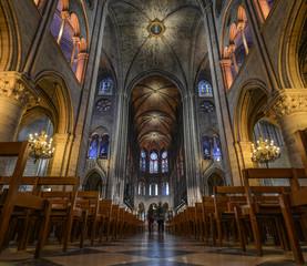 Interior of Notre-Dame de Paris