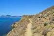 Wild beach. Mountains and sea. Crimea