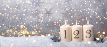 3.Advent Hintergrund Golden Bo...