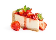 Piece Of Cheesecake With Fresh...
