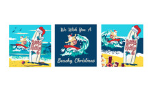 Holiday Illustration Santa Cla...