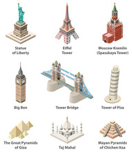 Famous World Landmarks Vector ...