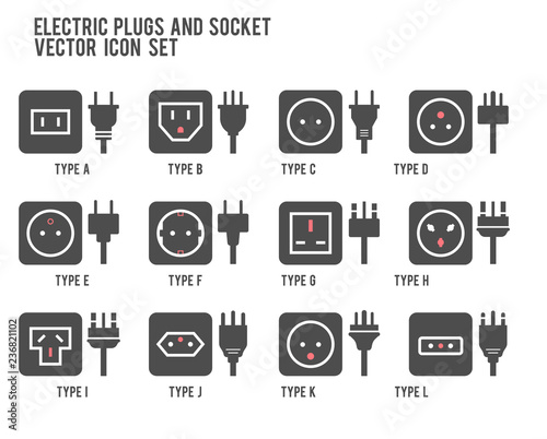 Electric outlet illustration in white background Fototapet