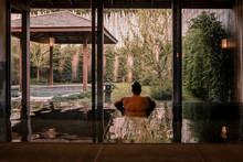 Young Man At Onsen Bath Spa, N...