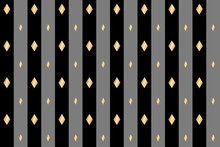 Background Of Dark Gray And Black Stripes With Gold Diamonds