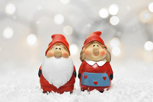Santa Claus And His Wife. Chri...