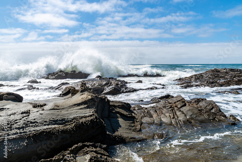 Fotografie, Tablou wave with spray on californian coast