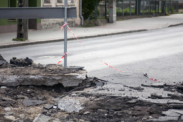 zrywanie asfaltu