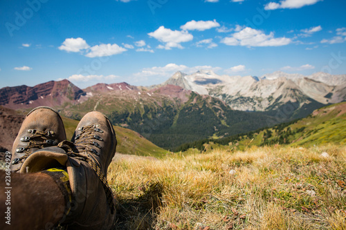 Fotografie, Obraz  Alpine Backpacking