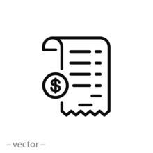 Receipt Icon Vector