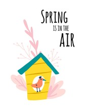 Spring Is In The Air. Bird In ...
