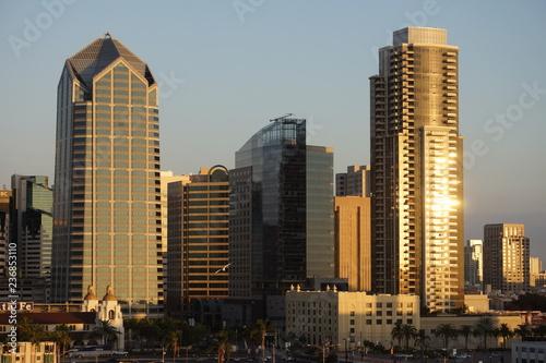 Fotografia San Diego skyline at sunset