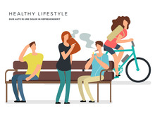 Healthy Lifestyle Vector Poste...
