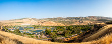 Panorama Of Hamat Gader Resort. Zoo, Crocodiles Farm And Hot Springs Site In The Yarmouk River Valley, Used Since The Classical Antiquity.