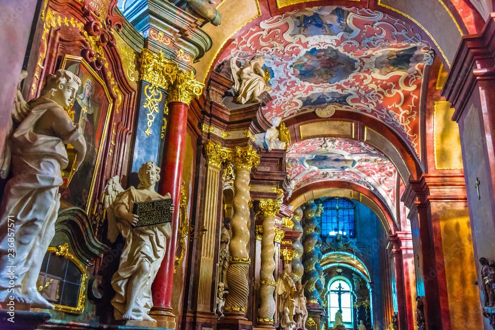 Fototapety, obrazy: Wnętrze Fara, Bazylika Mariacka w Poznaniu