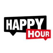 Happy Hour Label Sign