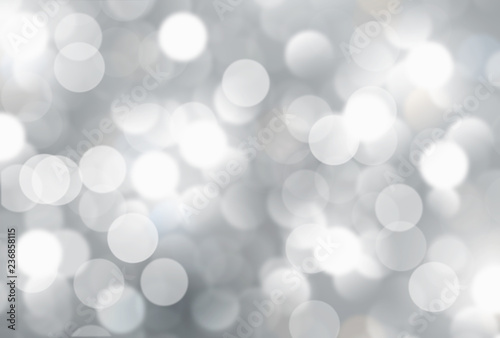 Fototapety, obrazy: Silver blurred background,holiday wallpaper
