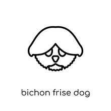 Bichon Frise Dog Icon. Trendy ...