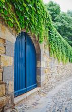 Gate Door In Stone Wall