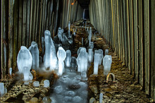 Ice Stalagmites On The Gallery Floor