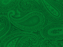 Green Paisley Background