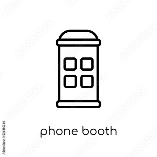 Fotografie, Obraz  phone booth icon