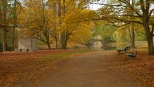 Garten Und Park Im Herbst Am See