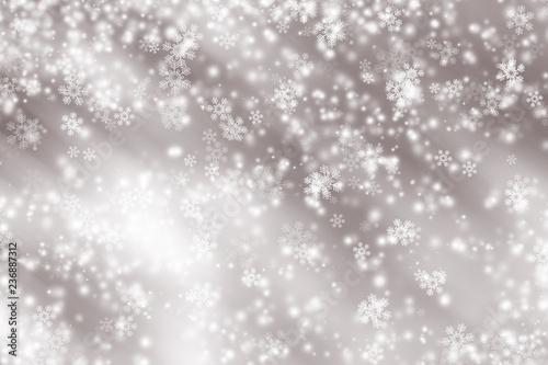 Fototapeta white snow blur abstract background. Bokeh Christmas blurred beautiful shiny Christmas lights obraz na płótnie